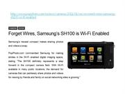 Forget Wires, Samsung's SH100 is Wi-Fi Enabled