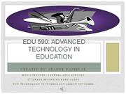 EDU 590: Technology vs Non-Technology Assignment