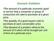 Demand -Definition