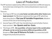 Laws of Production