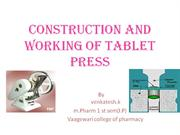 CONSTRUCTION AND WORKING OF TABLET PRESS2