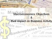 Macroeconomics objectives