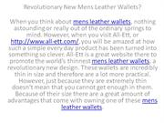 Revolutionary New Mens Leather Wallets