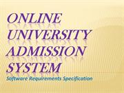 srs for online admission system