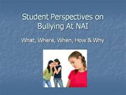 student perspectives on bullying