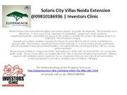 Solaris City Villas Noida Extension