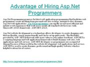 Hire Asp Net Programmers for Best Web Solutions