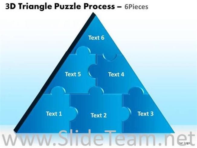Triangle Segments Ppt Template Powerpoint Diagram