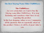 Maytag Water Filter Guide