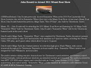 john rosatti to attend 2011 miami boat show