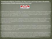 maximized living inc. founders, dr ben lerner and greg loman awarded t