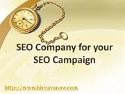 SEO Company for your SEO Campaign