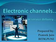 electronic channels in service delivery