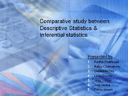 Comparative study between Descriptive Statistics