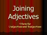 joining adjectives