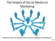 impact of social media on marketing