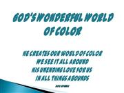 god's wonderful world of color