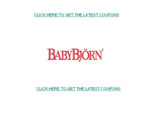 picture about Free Baby Coupons Printable identify Kid Bjorn Discount codes-Absolutely free Printable Youngster Bjorn Coupon codes