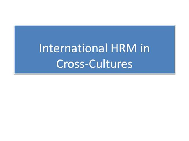importance of cross culture