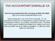 Tax Accountant Danville CA: (925) 361-2382