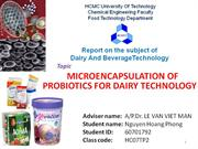 microencapsulation of probiotics for dairy technology