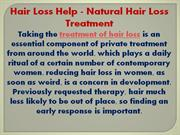 Natural Hair Loss Treatment Guide