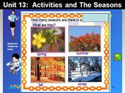 English 6 - Unit 13 - Activities and the seasons