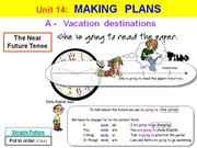 English 6 - Unit 14 - Making plans