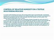 Group8-CONTROL OF RELATIVE HUMIDITY IN A TEXTILE    MOISTENING PROCESS