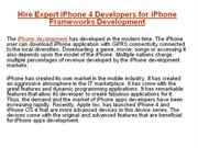 Hire Expert iPhone 4 Developers for iPhone Frameworks Development