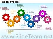 Steps Process Gears PPT Design