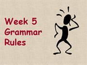 week 5 grammar rules