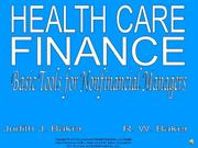 Health Care Finance Chapter 1