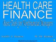chapter 2 health care finance