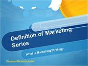 Definition of marketing - strategy