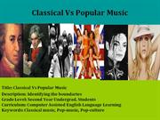 Classical Vs Popular Music