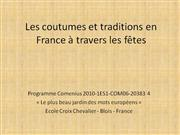 Coutumes et traditions en France