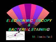 e.m and bacterial staining