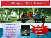 Challenges In Rural Markets