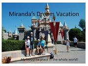 Miranda's Dream Vacation