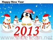 New Year Diagram With Snowman