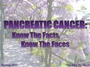 Pancreatic Cancer - Know The Facts, Know The Faces