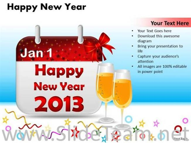 enjoy happy new year diagram powerpoint diagram