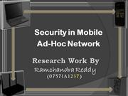 A security architecture for Mobile Ad Hoc Networks