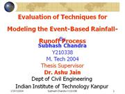 Kalia Subhash Chandra Y210338 rainfall runoff techniques using ann