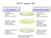 SWOT Analysis III business diagram