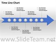 7 Staged Linear Arrow Timeline Diagram