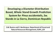 Diameter Distribution on Pinus occidentalis_SWBL_2008_NEMO