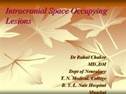 Intracranial Space Occupying Lesions