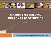 Mating System and Response to Selection